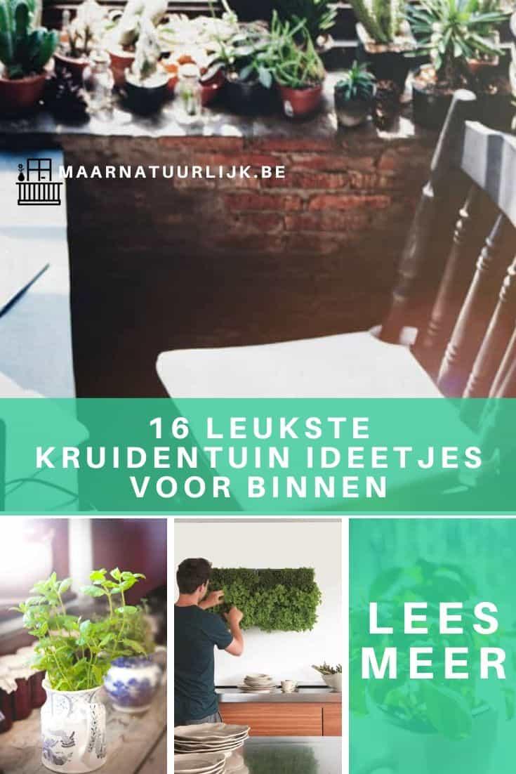 Collage van 4 kruidentuin ideeën voor binnen