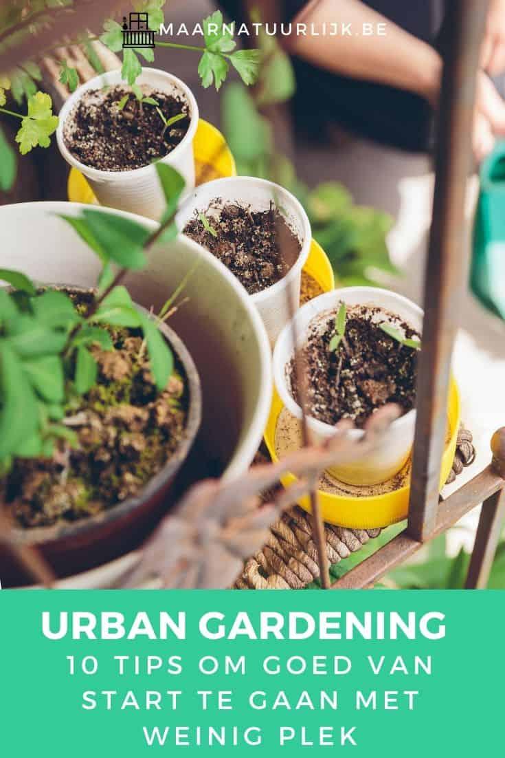 Hangende vertical urban garden met weinig plek