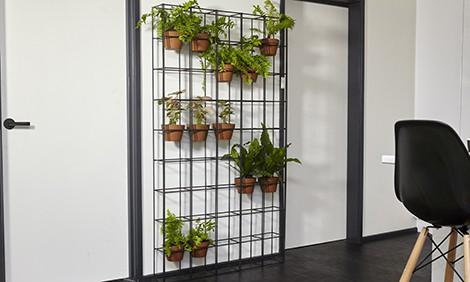 metalen verticale plantenrek