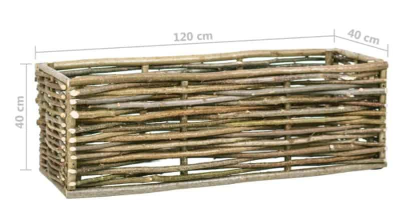 Beste bak om kruiden samen in te kweken: VidaXL gevlochten plantenbak