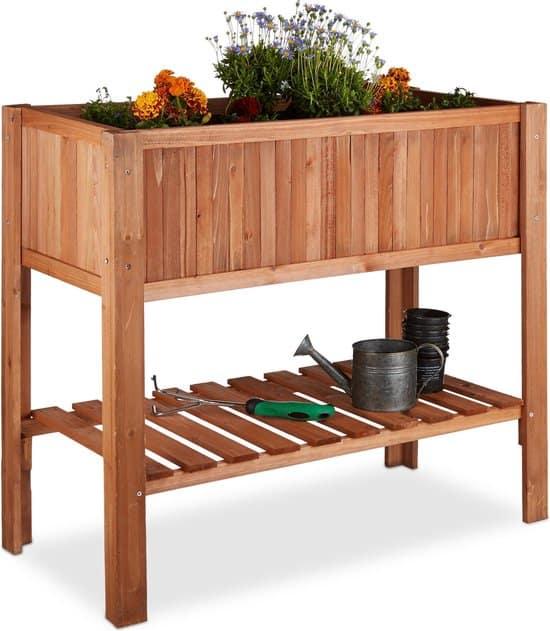 Beste kruidenbak voor buiten: Relaxdays Minigarden Dennenhout