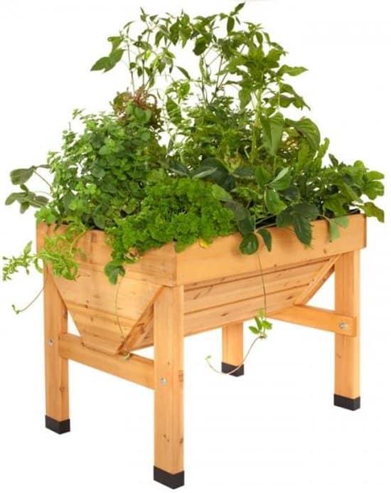 Verhoogde beste kweektafel Vegtrug - 1 x 0,8 x 0,8 m - ideaal om groenten en kruiden te kweken