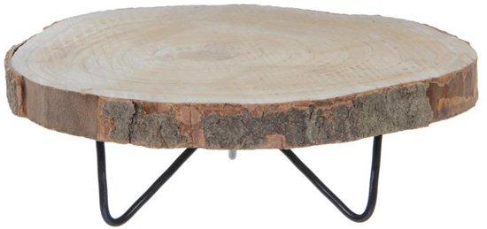 Mica Decorations mooie lage plantentafel van natuurlijk hout