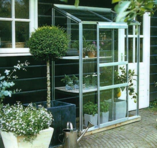 Beste glazen kweekkas Royal Well Wall Garden 42 Muurkas Glas