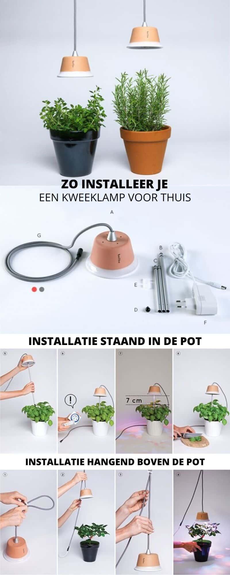 Zo installeer je een kweeklamp voor thuis