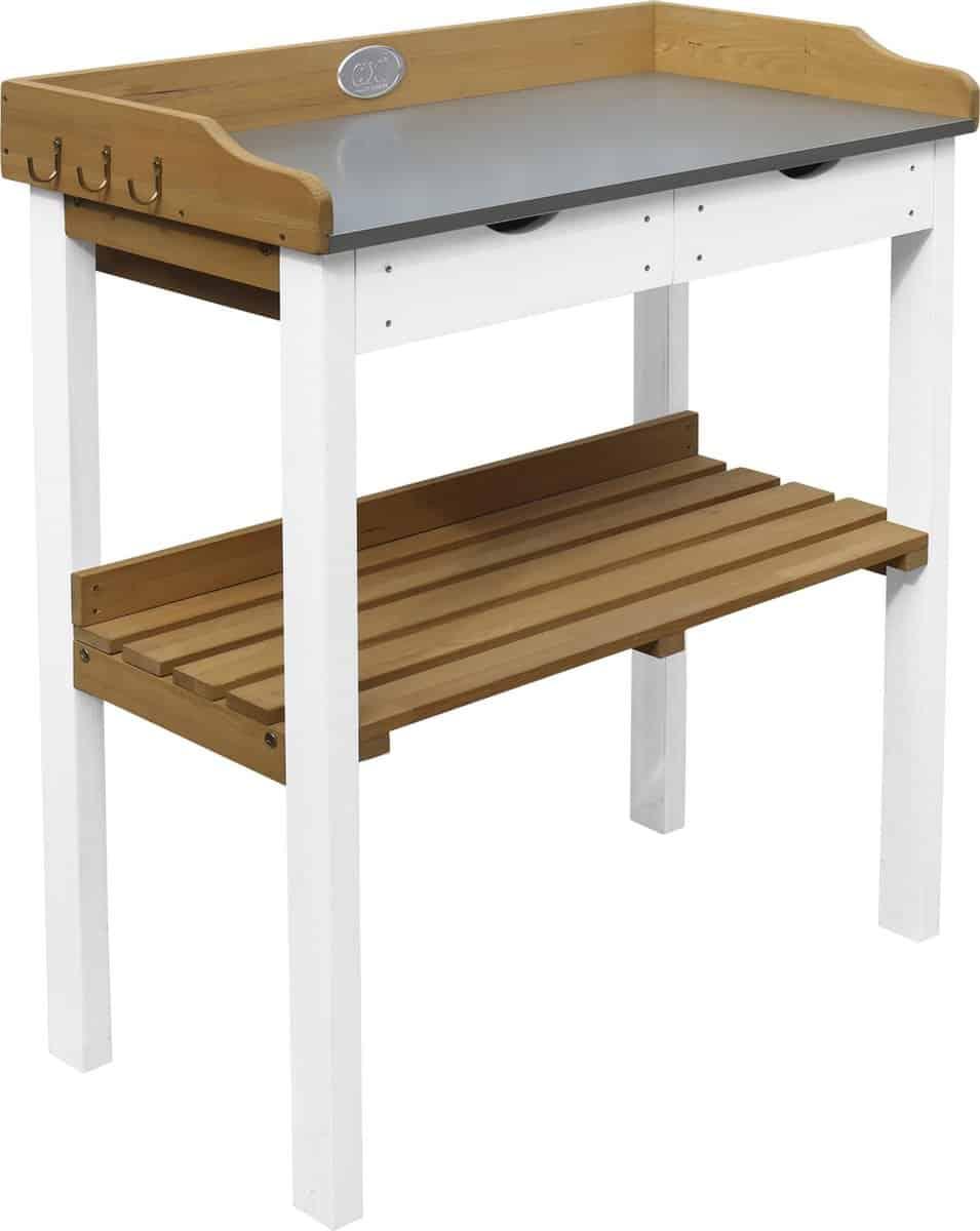 Mooiste witte oppottafel: Axi houten plantentafel