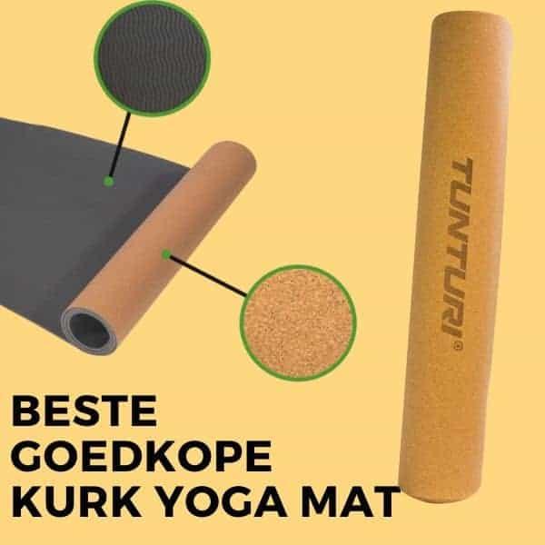 Beste goedkope kurk yoga mat: Tunturi