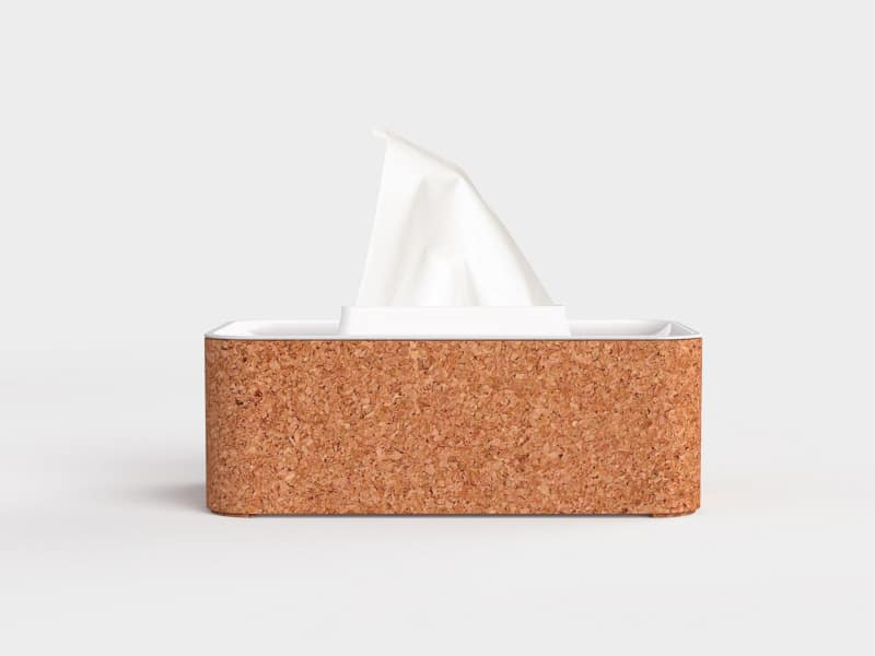 Kurk tissue doos