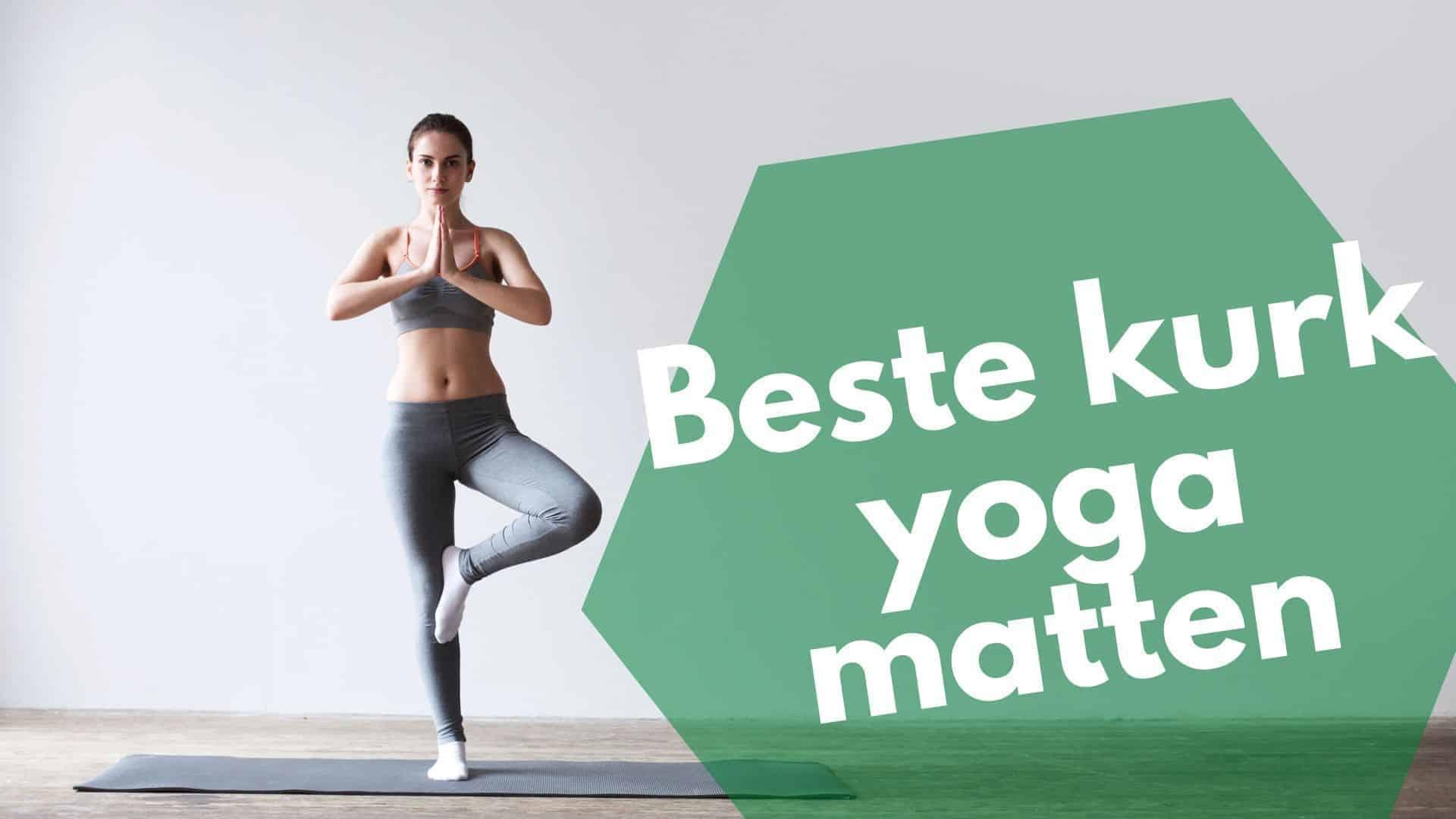 Kurk yoga mat, blok & wiel