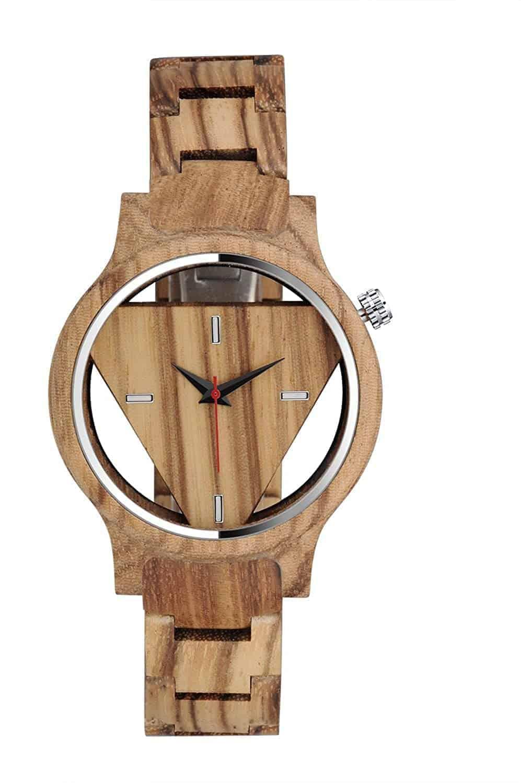Leukste houten vegan heren horloge: MICGIGI Wooden Watch Zebra