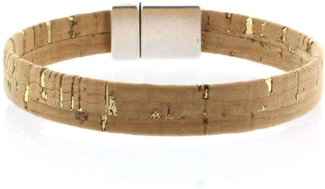 Leukste kurk armbandje vrouw: RISEN&LOUD kurk armband met magneetsluiting