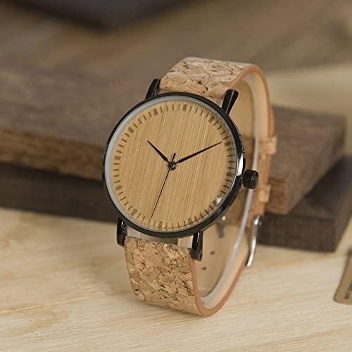 Leukste kurk horloge man: DXLTA Wood and Cork