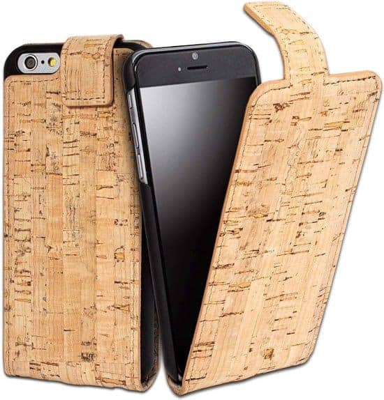 Leukste kurk iphone hoesje vrouw/man: Bouletta Magnetic Cork iPhone 6S Plus FlipCase