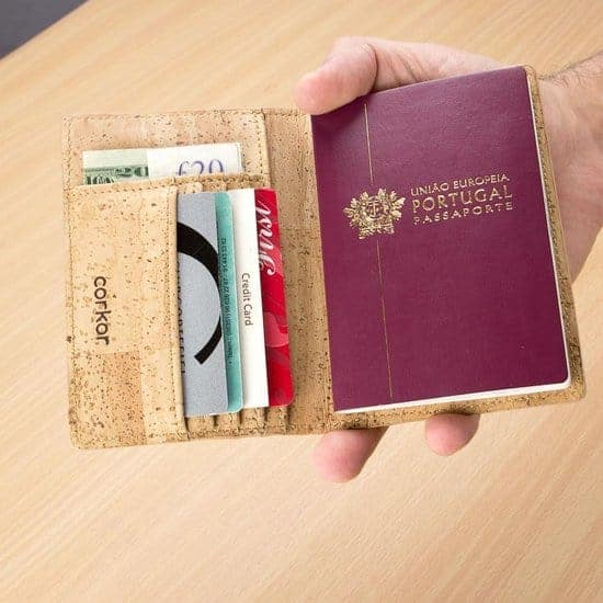 Leukste kurk paspoorthouder vrouw/man: Corkor Paspoort portemonnee