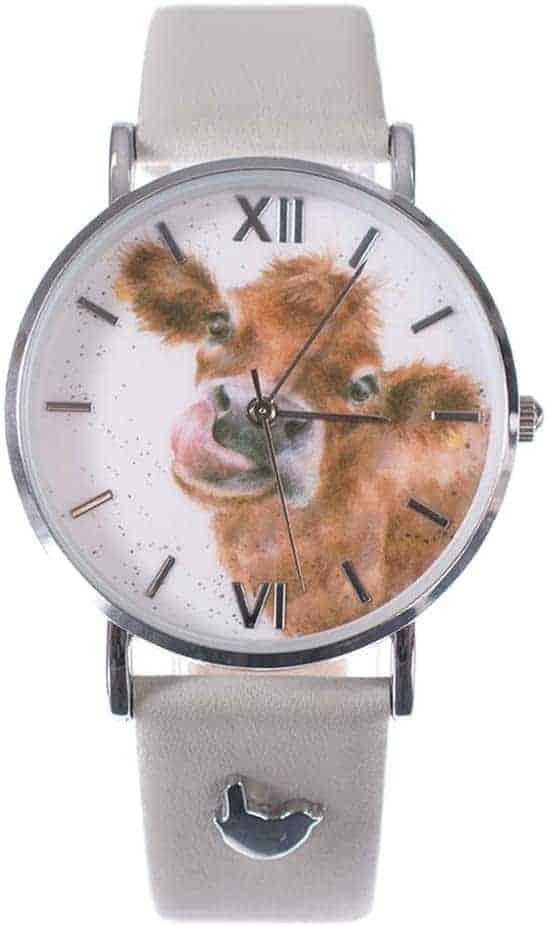 Leukste vegan dames horloge met dieren: Wrendale Designs Moooo