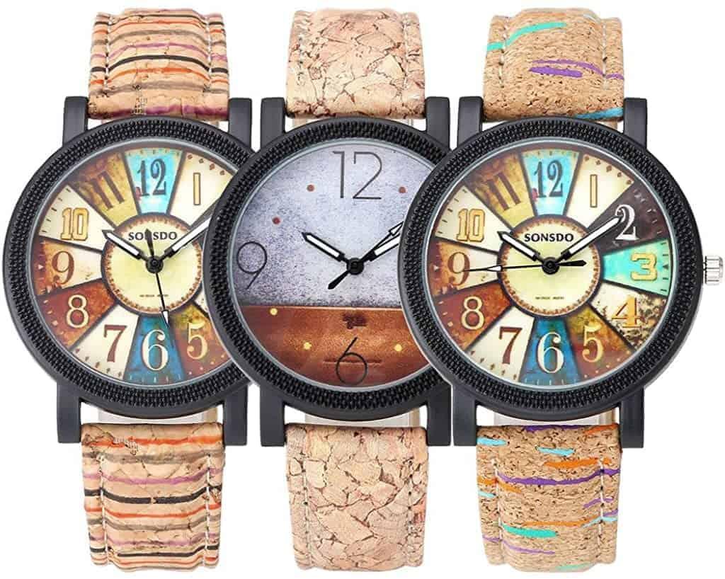 Leukste vegan dames horloge van kurk: JSDDE Watches