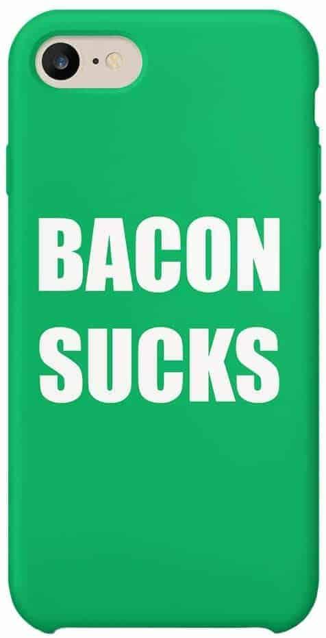 Leukste vegan iphone hoesje voor heren: Bacon Sucks Be Vegan iPhone XR Case