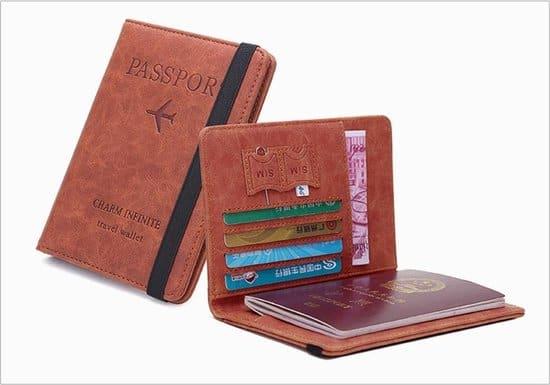 Leukste vegan portemonnee creditcards heren: OMC Vintage paspoorthouder