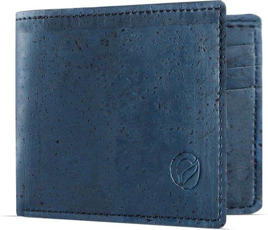 Leukste vegan portemonnee van kurk heren: Corkor slim wallet blue