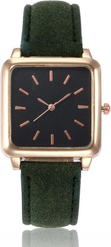 Leukste vierkante vegan heren horloge: Vesper Black Square