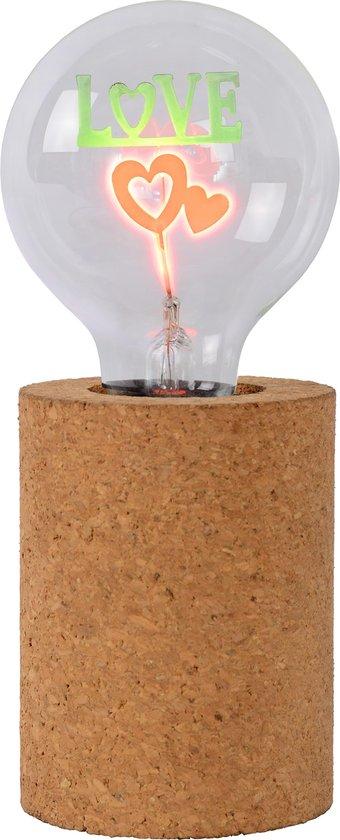 Schattige kurk tafellamp: Lucide Corky