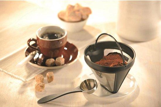 Beste herbruikbare koffie filters: Gefu permanente koffiefilter