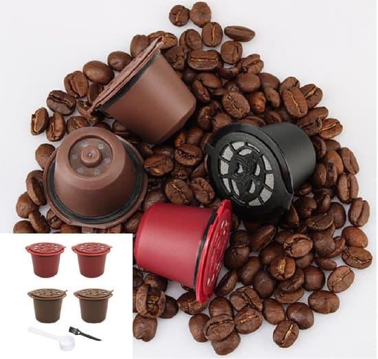 Budget herbruikbare koffie cups Nespresso: Nespresso herbruikbare cups 4 stuks