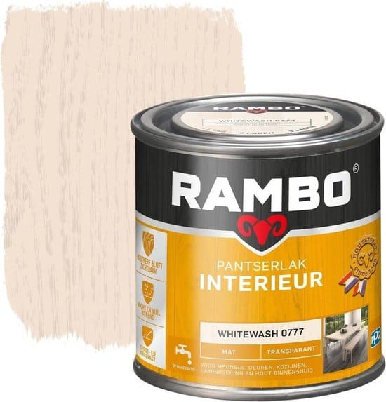 Rambo interieur verf voor kurk whitewash