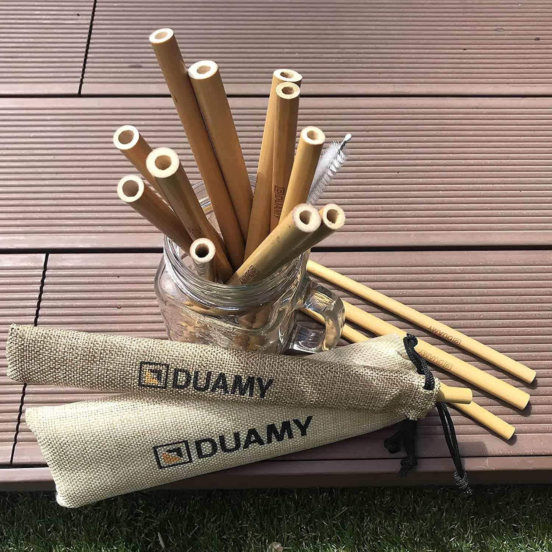 Beste herbruikbare bamboe rietjes- DUAMY rietjes set