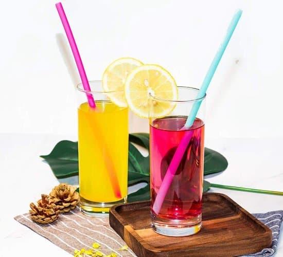 Beste herbruikbare siliconen rietje- N.T.D.D.E.A drinkrietjes set